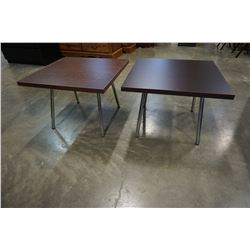 PAIR OF MODERN ENDTABLES