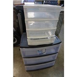 3 AND 4 DRAWER PLASTIC ORGANIZERS