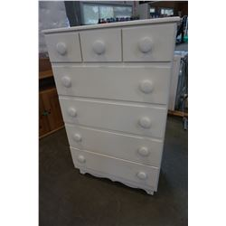 7 DRAWER PAINTED WHITE DRESSER