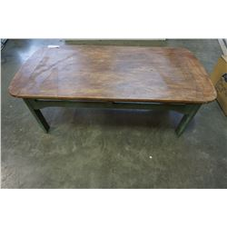 RIVERSIDE FURNITURE RUSTIC COFFEE TABLE