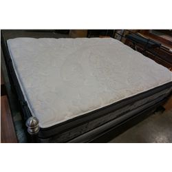 QUEENSIZE KINGSDOWN FITZGERALD EURO TOP MATTRESS AND BOXSPRING, FLOOR MODEL