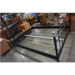 BLACK AND METAL QUEENSIZE BED FRAME