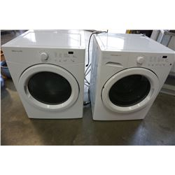 WHITE FRIDGIDAIRE FRONT LOAD WASHER/DRIER W/ STACKING OPTION