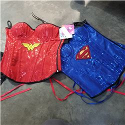 2 NEW WOMENS SUPER HERO CORSETS - RETAIL $120