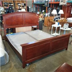 MODERN MAHOGANY KING SIZE BED FRAME