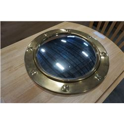 DECORATIVE BRASS SHIP PORTHOLE MIRROR