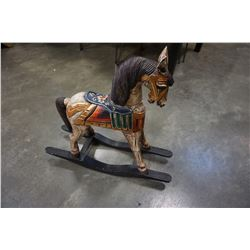 REPRODUCTION WOOD ROCKING HORSE