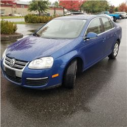 2008 VOLKSWAGEN JETTA 2.5 AUTOMATIC, 4 DOOR SEDAN, 246640KM WITH KEYFOB AND KEY, REGISTRATION AND CA