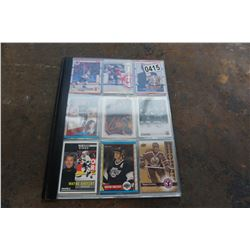 BINDER OF GRETZKY AND LEMIEUX VARIOUS HOCKEY CARDS