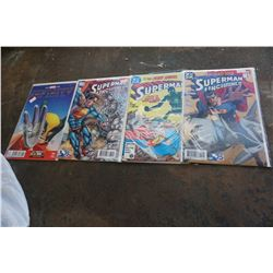 4 SUPERMAN COMICS
