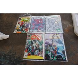 SPIDERMAN, STARWARS AND GREEN LANTERN COMICS