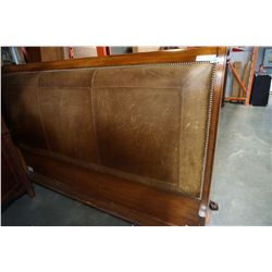 KING SIZE SLEIGH BED FRAME, NEEDS HARDWARE