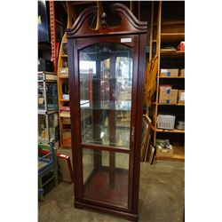MAHOGANY GLASS CORNER DISPLAY CABINET