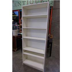 WHITE 7FT BOOK SHELF