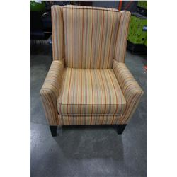 STRIPED STYLUS ACCENT CHAIR