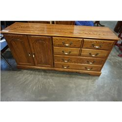 OAK 6 DRAWER DRESSER