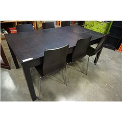 ESPRESSO DINING TABLE W/ 6 CHAIRS
