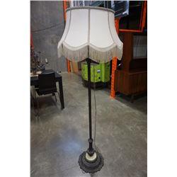 VINTAGE FLOOR LAMP W/ TASSELS