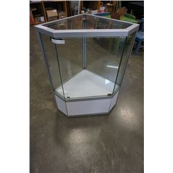 GLASS RETAIL DISPLAY CORNER UNIT
