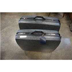 2 SAMSONITE HARD CASE SUITECASES