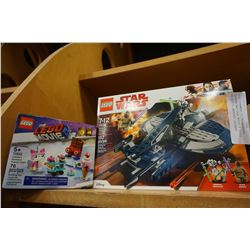 LEGO STARWARS 75199 GRIEVOUS SPEEDER AND LEGO MOVIE 2 70822 UNIKITTYS SWEETEST FRIENDS