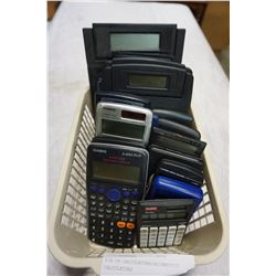 BIN OF CALCULATORS/SCIENTIFIC CALCULATORS