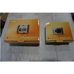 2 CANNON DIGITAL CAMERAS IN BOX POWERSHOT A490 AND A570IS