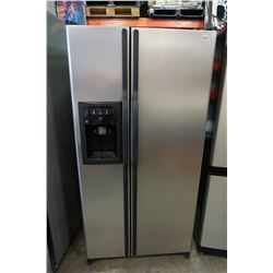 STAINLESS STEEL GE FRIDGE FREEZER COMBO W/ WATER & ICE DISPENSER TESTED AND WORKING GUARANTEED