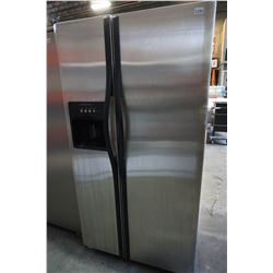 STAINLESS STEEL FRIDGIDAIRE FRENCH DOOR FRIDGE FREEZER COMBO W/ICE & WATER TESTED AND WORKING GUARAN
