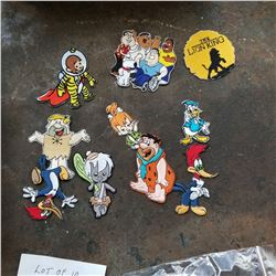 10 CARTOON PATCHES RETAIL $7-15 EACH