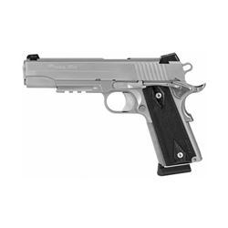 "SIG 1911R 45ACP 5"" STS 8RD NS BLKWD"