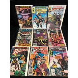 INDIANA JONES/ RAIDERS OF THE THE LAST ARK COMIC BOOK LOT (MARVEL COMICS)
