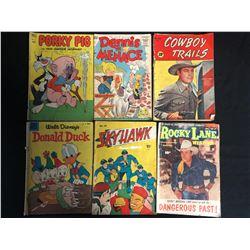 VINTAGE COMIC BOOK LOT (PORKY PIG/ DONALD DUCK/ COWBOY TRAILS...)