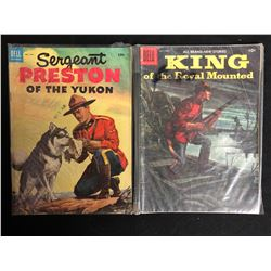 VINTAGE DELL COMICS BOOK LOT (SERGEANT PRESTON OF THE YUKON/ KING OF THE ROYAL MOUNTED)