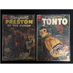 DELL COMIC BOOK LOT (TONTO/ SERGEANT PRESTON OF THE YUKON)