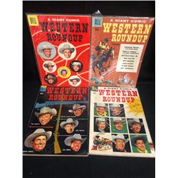 WESTERN ROUNDUP COMIC BOOK LOT (DELL COMICS)