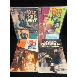 THE WILD WILD WEST COMIC BOOK LOT (GOLD KEY COMICS)
