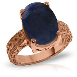 Genuine 8.5 ctw Sapphire Ring Jewelry 14KT Rose Gold - REF-168W3Y