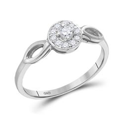0.12 CTW Diamond Solitaire Bridal Ring 10KT White Gold - REF-14X9Y