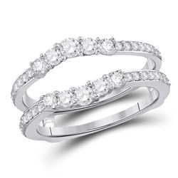 0.75 CTW Diamond Ring 14KT White Gold - REF-82Y4X