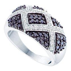 1 CTW Black Color Diamond Fashion Ring 14KT White Gold - REF-76Y4X