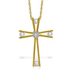 Genuine 0.45 ctw Diamond Anniversary Necklace Jewelry 14KT Yellow Gold - REF-150K2V