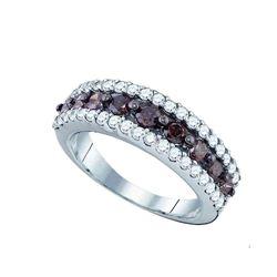 1.55 CTW Cognac-brown Color Diamond Ring 10KT White Gold - REF-67H4M