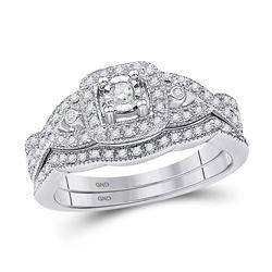 0.25 CTW Diamond Bridal Wedding Engagement Ring 10KT White Gold - REF-37X5Y