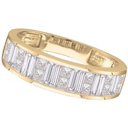 0.50 CTW Princess Diamond Wedding Ring 14KT Yellow Gold - REF-49X5Y