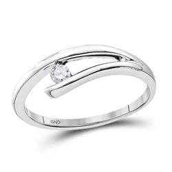 0.08 CTW Diamond Solitaire Bridal Ring 10KT White Gold - REF-13N4F
