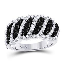 1.45 CTW Black Color Diamond Ring 10KT White Gold - REF-87W2K