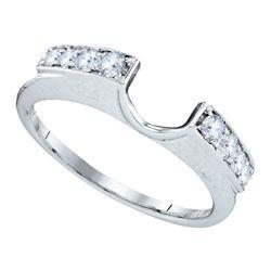 0.26 CTW Diamond Ring 14KT White Gold - REF-30N2F