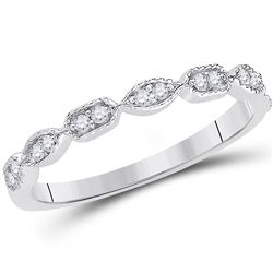 0.10 CTW Diamond Stackable Ring 14KT White Gold - REF-22N4F