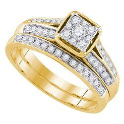 0.50 CTW Diamond Bridal Wedding Engagement Ring 14KT Yellow Gold - REF-65K9W